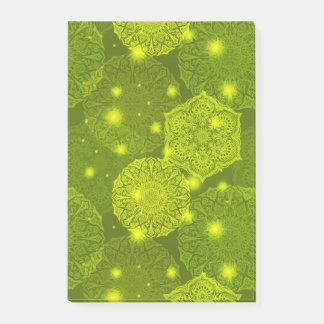 Bloquinho De Notas Teste padrão luxuoso floral da mandala