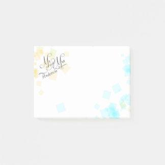 Bloquinho De Notas WEDDING - Sr. e Sra. confete Pastel das cores da