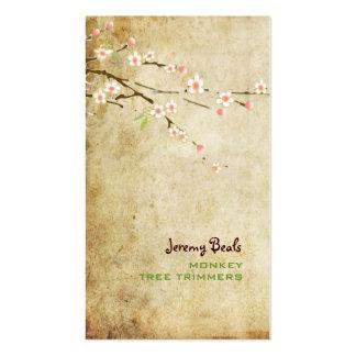 Blossoms♥♥ da cereja do rosa do vintage de PixDezi Modelo Cartões De Visita