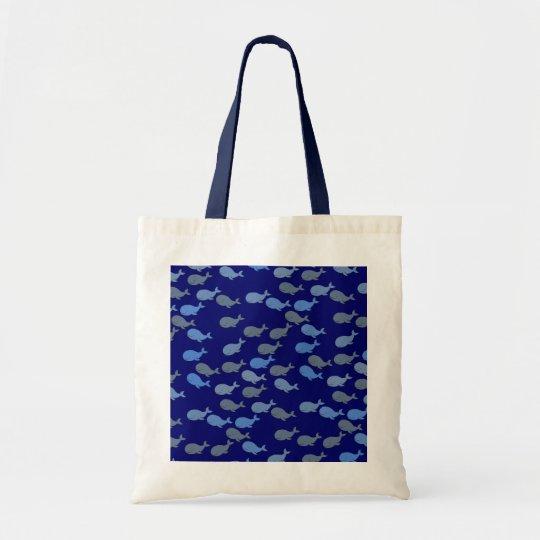 blue cute whales bolsa tote