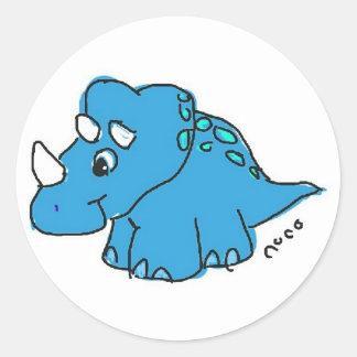 Blue Dino Adesivo