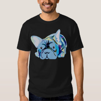 Blue French Bulldog T-shirt