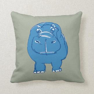 blue hippo travesseiros de decoração