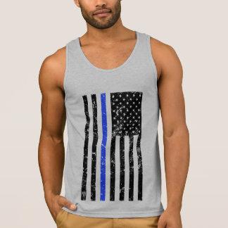 Blue Line fino - agente da polícia - bandeira