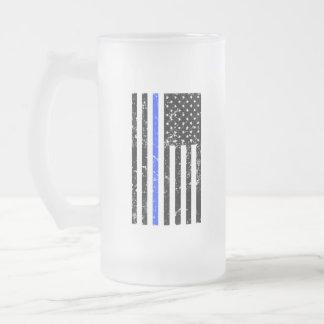 Blue Line fino - agente da polícia - caneca de
