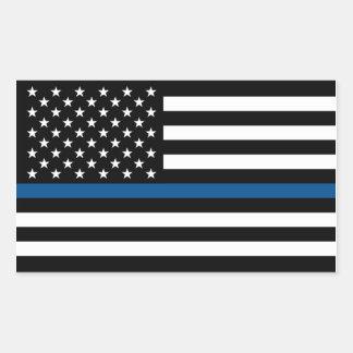 Blue Line fino apoia a etiqueta da polícia