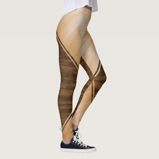 Blue Line fino - embutimento de madeira Legging