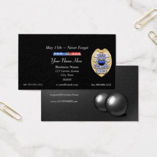 Blue Line fino policia o crachá e o bar claro Cartão De Visitas