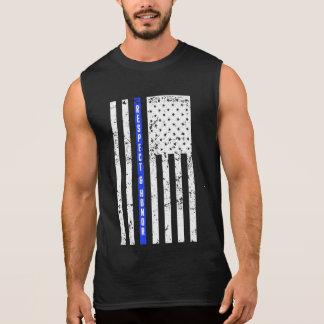 Blue Line fino - respeito e honra - camisa da
