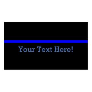 Blue Line fino simbólico personaliza este Cartão De Visita