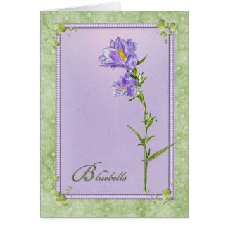 Bluebells Cartão