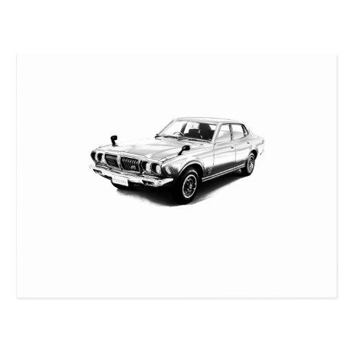 Bluebird 610 2000GTX 1974 de Datsun Cartões Postais