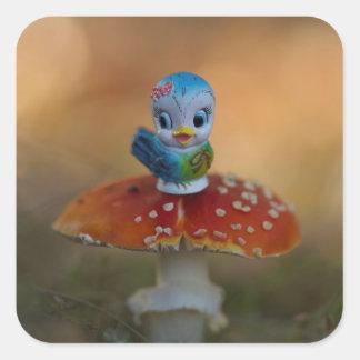 Bluebird de etiquetas da felicidade
