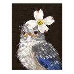 Bluebird do bebê de Helen com cartão do dogwood Cartao Postal