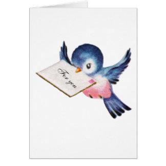 Bluebird do cartão da graduação da felicidade