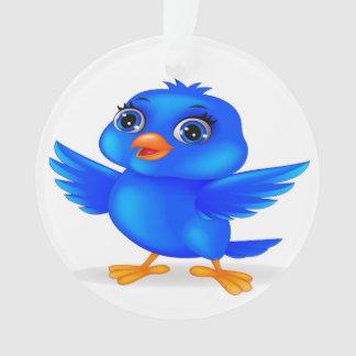 Bluebird do ornamento redondo da decoração do ano