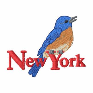 Bluebird oriental camiseta bordada polo