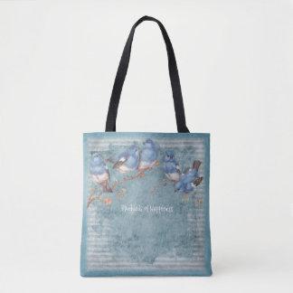 Bluebirds da felicidade - azul Pastel - bolsa
