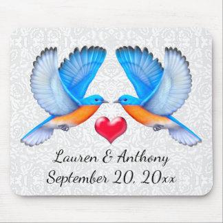 Bluebirds da felicidade que Wedding Mousepad