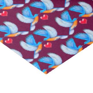 Bluebirds do lenço de papel da felicidade