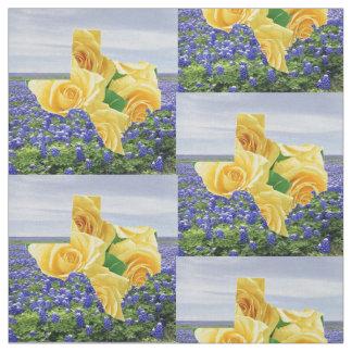 "Bluebonnets de Texas e tecido 4,5"" do rosa amarelo"