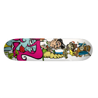 Bluesman, sinal, banjoman, Toothpicker, caracol, M Skateboard