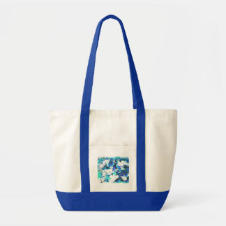 Blümchen em azul bolsas de lona