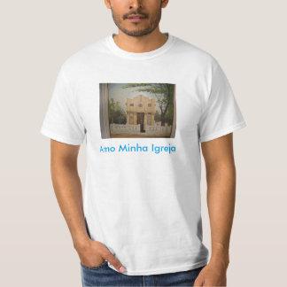 Blusa com foto de Igreja. T-shirt