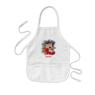 Blusa da pintura do ouriço! avental infantil