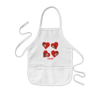 Blusa da pintura dos corações do ouriço! avental infantil