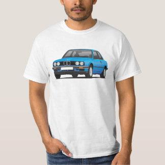 BMW E30 (3-series), ilustração azul, t-shirt