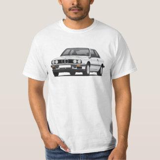 BMW E30 (3-series), ilustração de prata, t-shirt
