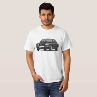 BMW E30 (3-series), ilustração preta, t-shirt