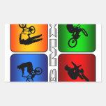 BMX espectacular Adesivo Em Forma Retangular