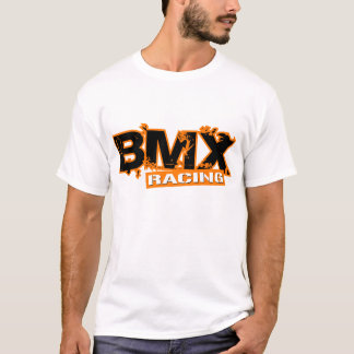 BMX QUE COMPETE A LARANJA CAMISETA