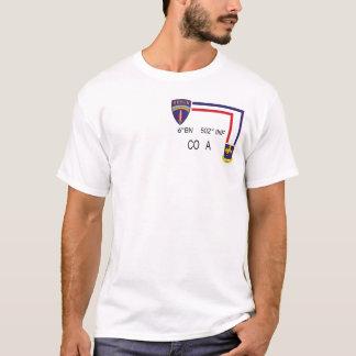 BN 502nd INF CO A da camisa da pinta 6os