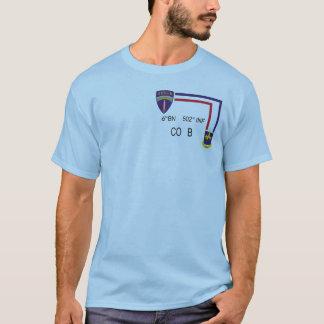 BN 502nd INF CO B da camisa da pinta 6os