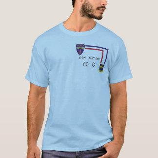 BN 502nd INF CO C da camisa da pinta 6os