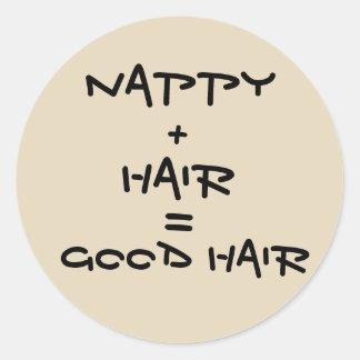 Boa etiqueta do cabelo