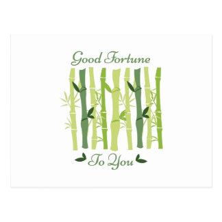 Boa fortuna cartão postal