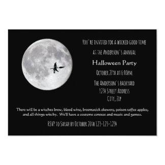 Boa lua má do tempo - convite de festas do Dia das