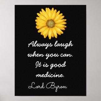 Boa medicina do riso -- Arte Print_ do _ Pôster