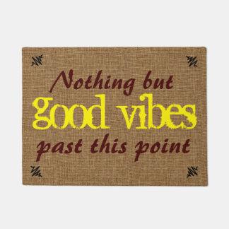 Boa mensagem do positivo da impressão tapete