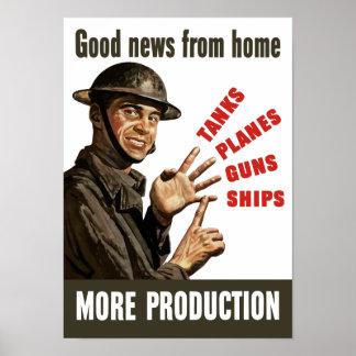 Boa notícia da casa - propaganda de WWII Pôster
