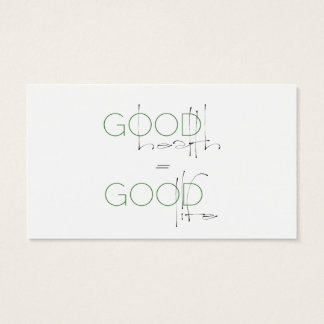 Boa saúde, cartão do nutricionista da boa vida