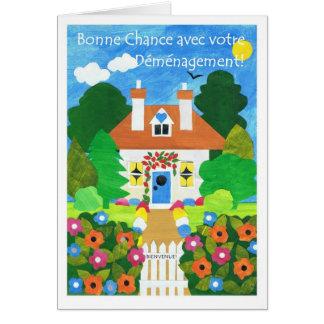 Boa sorte francesa com seu cartão do movimento