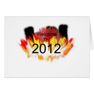 Boa vinda a 2012 cartoes