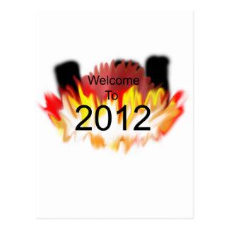 Boa vinda a 2012 cartão postal