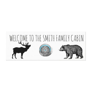 Boa vinda à arte das canvas da cabine da família