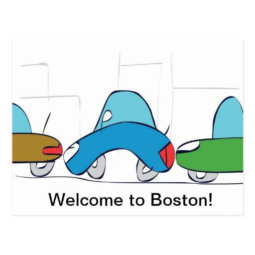 Boa vinda a Boston! Cartão Cartão Postal